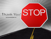 Stop Sign PowerPoint Template#20