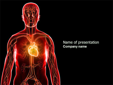blood vascular system powerpoint template, backgrounds | 03930, Modern powerpoint