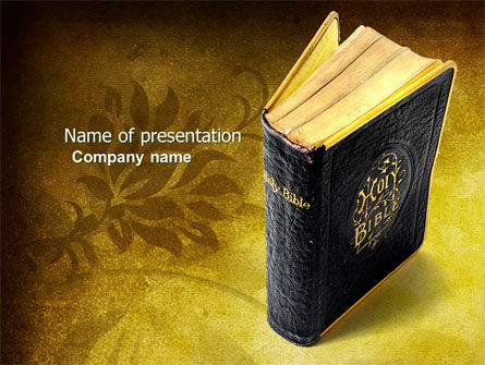 Religious/Spiritual: Christian Bible PowerPoint Template #03936
