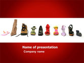 Careers/Industry: Lady's Shoes PowerPoint Template #03937