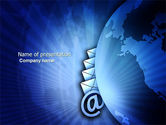 Telecommunication: Email Service PowerPoint Template #03940