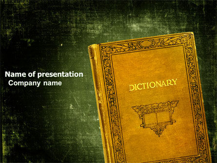 Dictionary PowerPoint Template, 03941, Education & Training — PoweredTemplate.com