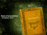 Education & Training: Dictionary PowerPoint Template #03941