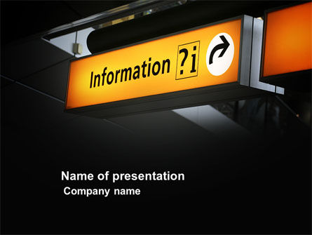 Information Bureau PowerPoint Template, 03942, Consulting — PoweredTemplate.com