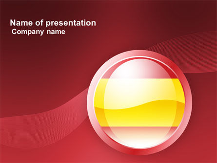 Flag of Spain PowerPoint Template