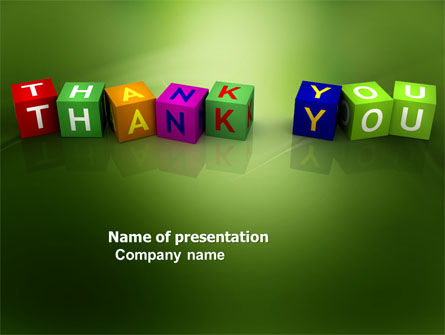 Thank You Cubes PowerPoint Template, 03944, Business Concepts — PoweredTemplate.com
