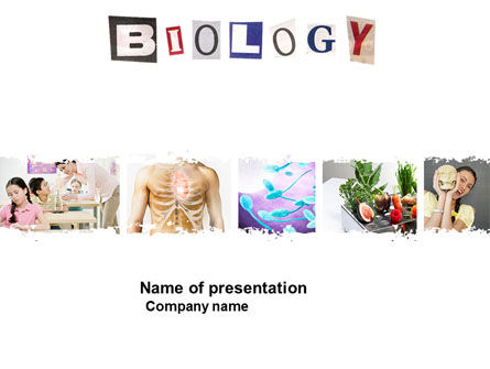 Education & Training: Modelo do PowerPoint - aula de biologia #03951