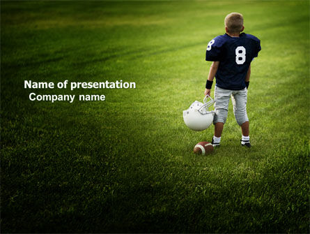 American Football in School PowerPoint Template