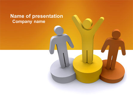 First Prize PowerPoint Template, 03953, Consulting — PoweredTemplate.com