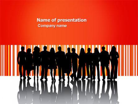 Sales Management PowerPoint Template, 03956, People — PoweredTemplate.com