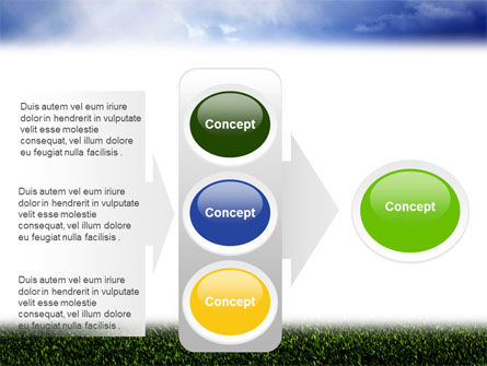 Green Field Under The Sun And Blue Sky PowerPoint Template Slide 11