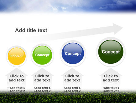 Green Field Under The Sun And Blue Sky PowerPoint Template Slide 13