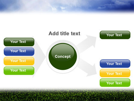 Green Field Under The Sun And Blue Sky PowerPoint Template Slide 14
