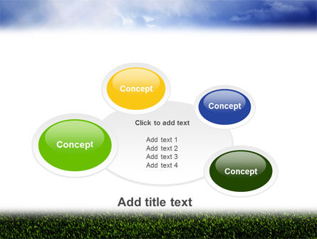 Green Field Under The Sun And Blue Sky PowerPoint Template Slide 16