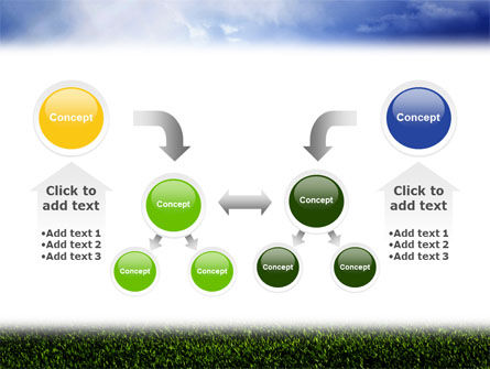 Green Field Under The Sun And Blue Sky PowerPoint Template Slide 19