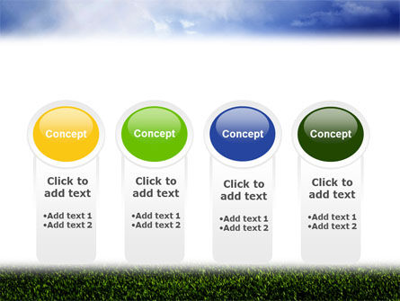 Green Field Under The Sun And Blue Sky PowerPoint Template Slide 5