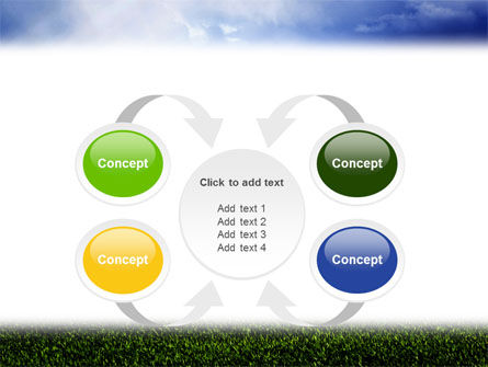 Green Field Under The Sun And Blue Sky PowerPoint Template Slide 6