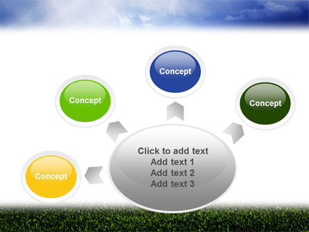 Green Field Under The Sun And Blue Sky PowerPoint Template Slide 7