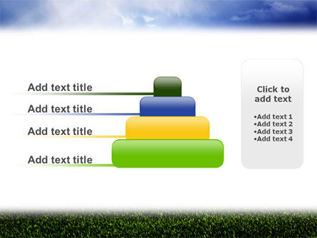 Green Field Under The Sun And Blue Sky PowerPoint Template Slide 8