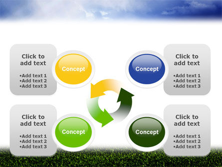 Green Field Under The Sun And Blue Sky PowerPoint Template Slide 9