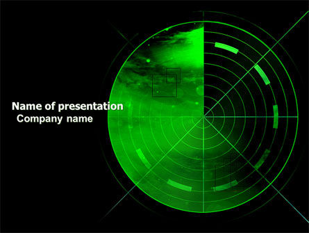 Military: Radar PowerPoint Template #03963
