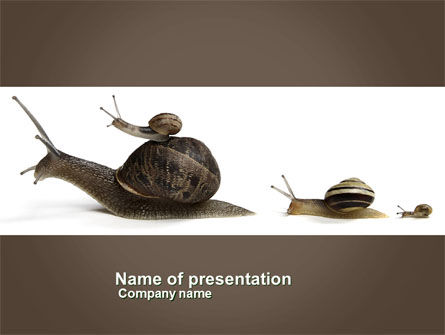 Nature & Environment: Snails On The Way PowerPoint Template #03965