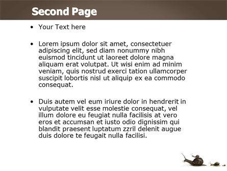 Snails On The Way PowerPoint Template, Slide 2, 03965, Nature & Environment — PoweredTemplate.com