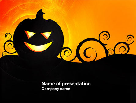 Halloween is Near PowerPoint Template, 03967, Holiday/Special Occasion — PoweredTemplate.com