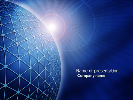 Abstract/Textures: Blue Sphere PowerPoint Template #03968
