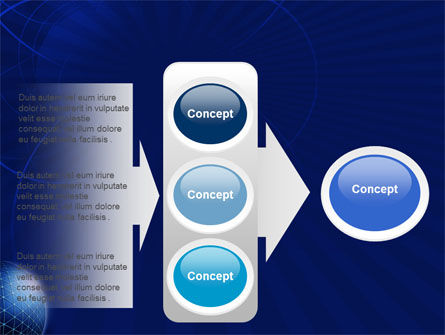 Blue Sphere PowerPoint Template Slide 11