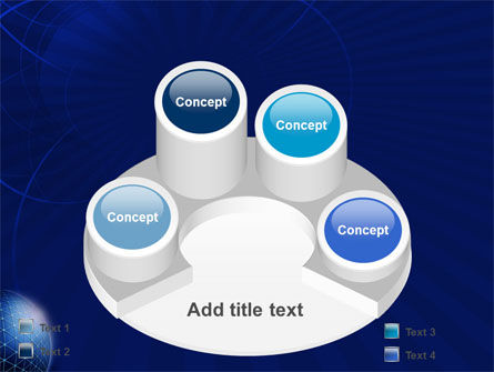 Blue Sphere PowerPoint Template Slide 12