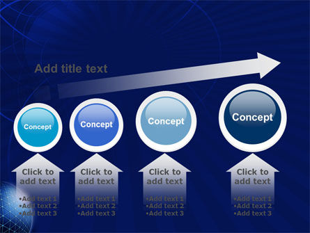 Blue Sphere PowerPoint Template Slide 13