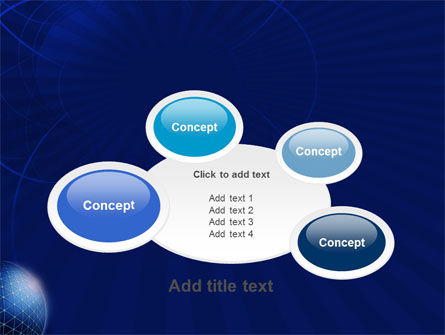 Blue Sphere PowerPoint Template Slide 16