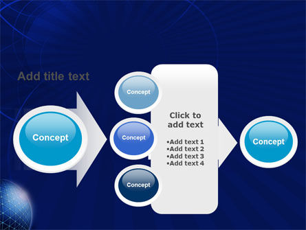 Blue Sphere PowerPoint Template Slide 17