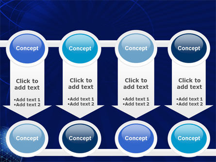 Blue Sphere PowerPoint Template Slide 18