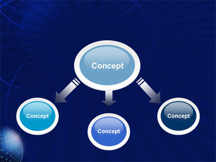 Blue Sphere PowerPoint Template Slide 4