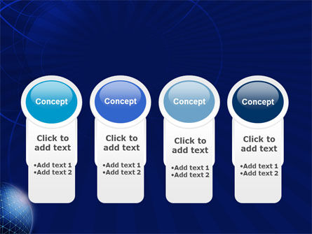 Blue Sphere PowerPoint Template Slide 5