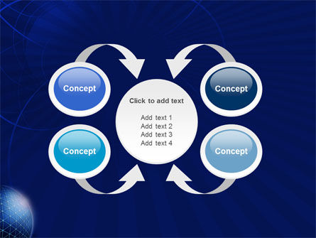 Blue Sphere PowerPoint Template Slide 6