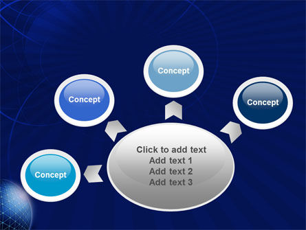 Blue Sphere PowerPoint Template Slide 7