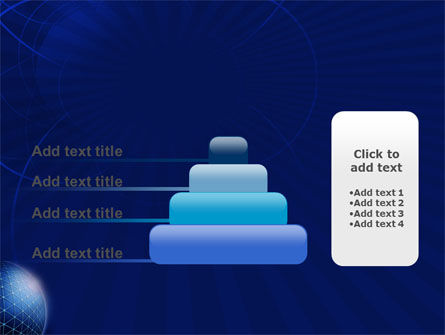 Blue Sphere PowerPoint Template Slide 8