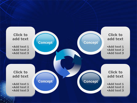 Blue Sphere PowerPoint Template Slide 9