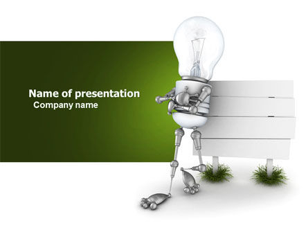 Idea Board PowerPoint Template, 03970, Consulting — PoweredTemplate.com