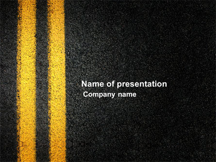 road marking powerpoint template, backgrounds | 03971, Modern powerpoint