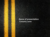 Cars and Transportation: Road Marking PowerPoint Template #03971