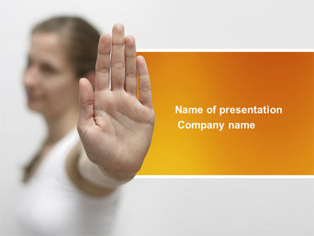 People: Stop Gesture PowerPoint Template #03972