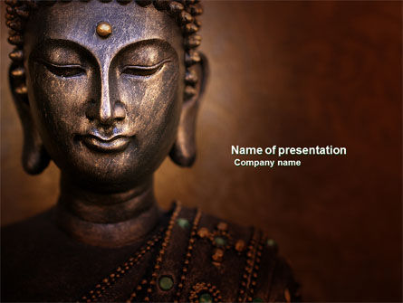 Religious/Spiritual: Buddha In Meditation PowerPoint Template #03973