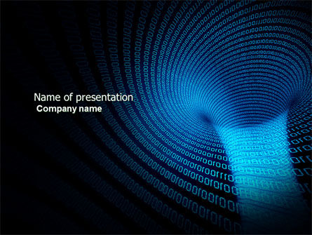 Technology and Science: Digital Black Hole PowerPoint Template #03978