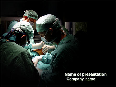Medical: Major Surgery PowerPoint Template #03979
