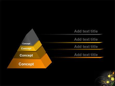 Yellow Flowers Pattern PowerPoint Template Slide 12