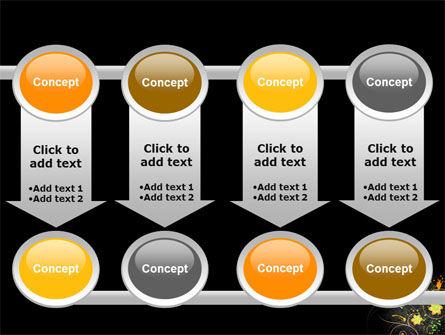 Yellow Flowers Pattern PowerPoint Template Slide 18